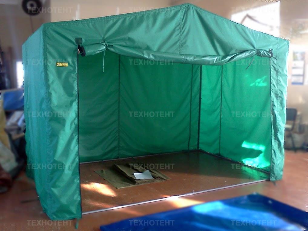 торговая палатка зеленая